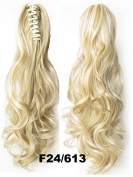 A.H Ladies Fashion Cosplay Party Synthetic PonytailLong Curly Hair Extension #F24/613