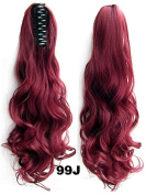 A.H Sexy Top Quality Curly Clw Clip Ponytail Creator Hair Extension Hairpiece #99J