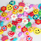100 Pcs of Charms with Different Assorted for Rubberband Rainbow Loom Bracelets.