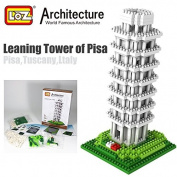 Leaning Tower of Pisa Italy Loz Diamond Blocks Architecture Nano Mini Bricks Toy