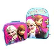 Disney Frozen Elsa & Anna Backpack w/detachable lunchbox