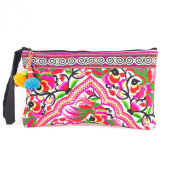 Changnoi Village of Peacocks Hill Tribe Clutch Bag Made By Hmong Thailand Fair Trade