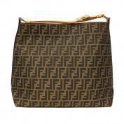 Fendi Zucca Orange Leather Borsa Hobo Bag