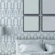 J BOUTIQUE STENCILS Geometric Wall Stencil Donna, Reusable Stencils Patterns for accent wall decor