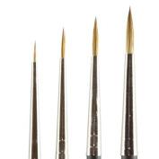 Kolinsky Pure Sable Artist Brush Set Detail Sizes 10/0,0,2,4
