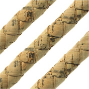 Regaliz Portuguese Cork Cord, Round and Braided 10mm, By The Inch, Natural
