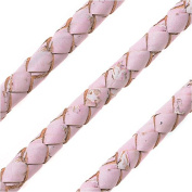 Regaliz Portuguese Cork, Round and Braided 6mm, By The Inch, Pink