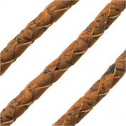 Regaliz Portuguese Cork, Round and Braided 6mm, By The Inch, Saddle Brown