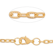 4x7mm Link Size Gold Plated 24 inch Length Popular Chain Necklace with Lobster Clasp-20pcs/lot