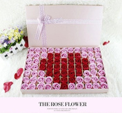 77pcs Fragrant Rose Bud Petal Soap Wedding Favour with Exquisite Gift Box Packaging
