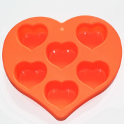 Elegant Heart Shape Soap Chocolate Jelly Silicone Mould Pan