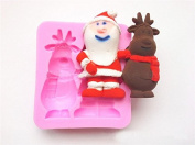 Funny 3D Charismas Grandpa silicone soap candle mould craft moulds