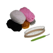 32 Peg Knitting Loom for Socks, Gloves, Legwarmers With 5 x 25g Wool Yarn Balls by Kurtzy TM
