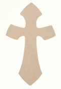 Woodcraft Cross 30cm X 20cm Unfinished Ready to Paint Wood Wooden Stacked Cutout