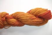 Flame Orange 100% Wool Hand Dyed Custom Spun Sports Weight Yarn
