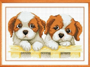 AngelGift Monalisa Stamped Cross Stitch- Two Dog