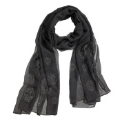 Studded Skull Necklace Scarf By Ganz