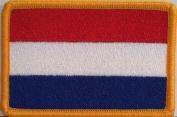Valledupar Colombia Flag Iron-on Patch Biker Emblem Gold Merrow Border