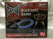 TapouT XT Pack of 3 Resistance Bands