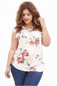 Rose Print Sleeveless Top - Size X1