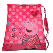 Official Peppa Pig Rocks Girls Trainer Drawstring PE Swimming Shoulder School Bag Back To School