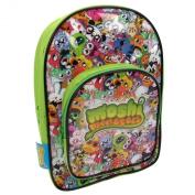 Official Moshi Monsters Boys Black Green Backpack Rucksack Shoulder School Bag Back To School