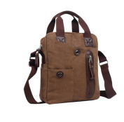 KISS GOLD Pure Cotton Canvas Tote/ Singleshoulder Bag(Brown£©