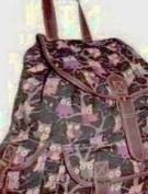 Womens Canvas Oilcloth Backpack Ladies Girls Rucksack School Bag College Overnight Flight Cabin Work Travel Shoulder Handbag Owl Butterfly Polka Dot Dragonfly designs CB151 LeisureGear uk