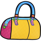 3D Bags - Cartoon Bowler Bag Handbag - Yellow