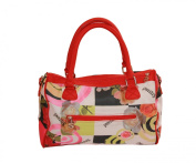 Stefano 740-012 Ladies' Bowling Bag with Flower Print