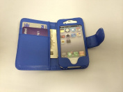 New Style Apple iPhone 4 4S Blue Wallet Style with Two Card Slots PU Leather Case Cover For Apple iPhone 4 4S by G4GADGET®