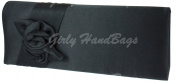 New Girly Handbags Flower Design Satin Clutch Bag Evening Women Ladies Handbag