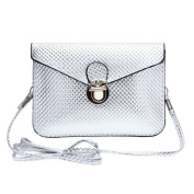 Envelope Clutch Handbag Bag Silver