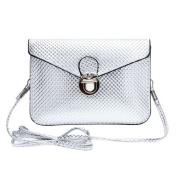 Envelope Clutch Handbag Bag Silver