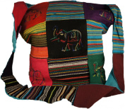 HIPPIE BAG - INDIAN STYLE with ELEPHANT DESIGN