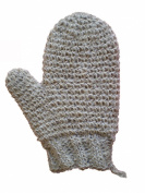 MAGIT Knit Brim Handmade Superior Horsehair Mitt Close, White