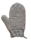 MAGIT Knit Brim Handmade Superior Horsehair Mitt Close, White