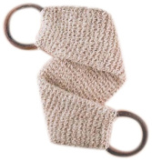 MAGIT Handmade White Massage Strap, Superior Horsehair in Close-Knit