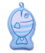 Gairui Baby shower bath rub cotton sponge twiddle lovely fish child products clean bathwater brush _Blue