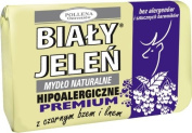 BIALY JELEN PREMIUM - Hypoallergenic bar soap with elderberry extract - 100g