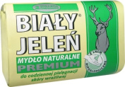 BIALY JELEN PREMIUM - Hypoallergenic bar soap with flax - 100g