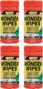 4 x Everbuild Wonder Wipes Antibacterial Cleaning Wipes 100 Sheets