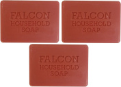 3 x Falcon Traditional Household Red Carbolic Soap 125g