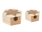 2pcs Wooden Dressing Cases with Mirrors