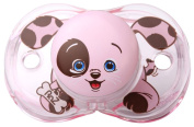 Raz-Baby Keep It Kleen Pacifier Dummy PINK PUPPY DESIGN