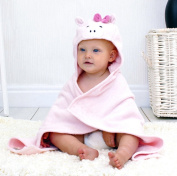 Bathing Bunnies Piggy Baby Hooded Towel Baby Pink