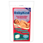Babykind Giant Cotton Pads 100 per pack