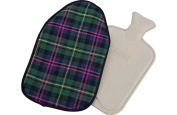 Hot Water Bottle with Tartan Cover.