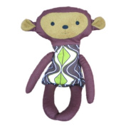 Soft Toy Monkey | Baltic Amber Gift | Handmade Doll with FULL Amber Gemstone Filling | Baby massage | Alternative Medicine | Crystal Therapy | SUPER Natural Gift For Babies