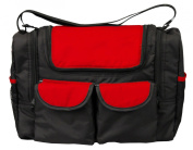 Bambisol SMFW Baby Changing Bag with Isothermal Compartment Black / Red
